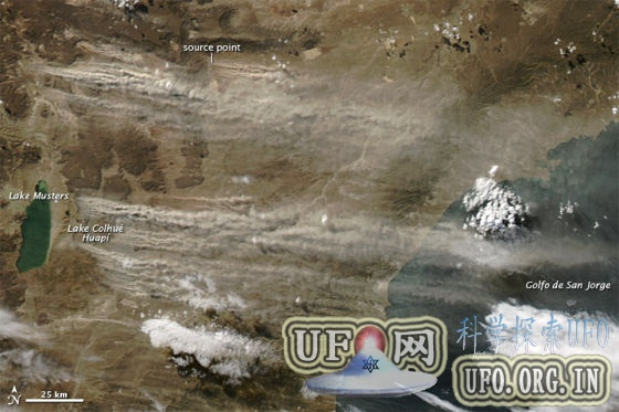 每日卫星照:阿根廷沙尘暴肆虐(图)的图片