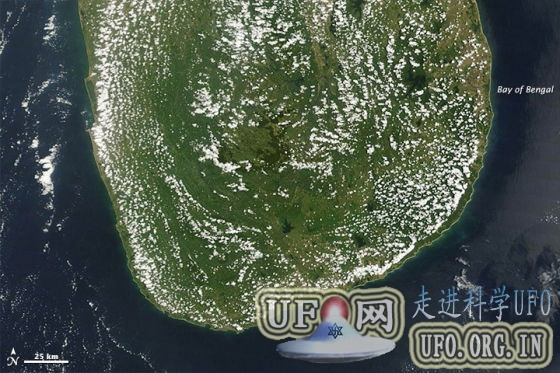 每日卫星照:斯里兰卡上空晴天积云的图片 第1张