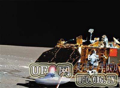 玉兔号月球车带病工作传回月面照的图片
