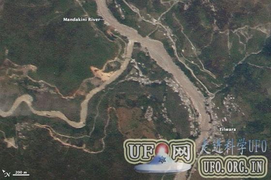 每日卫星照:印度特大洪灾的图片 第1张