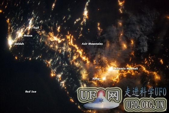 每日卫星照:沙特阿拉伯夜景的图片