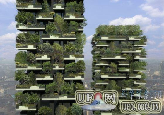 米兰打造垂直森林双子塔楼:浇灌使用生活污水的图片 第1张