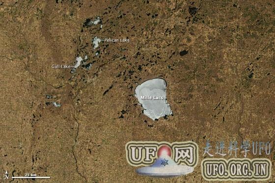 每日卫星照:美国明尼苏达五月残留湖冰的图片 第1张