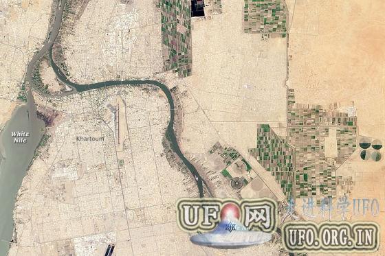每日卫星照:白尼罗河和青尼罗河交汇处的图片