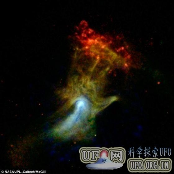 核光谱望远镜阵列拍死亡恒星:似上帝之手的图片 第1张