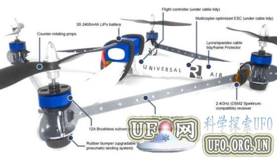 先进无人四旋翼直升机可自动追踪拍摄的图片 第5张