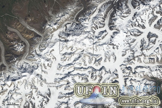每日卫星照:北美最高峰德纳里峰的图片 第2张