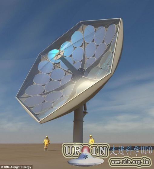 向日葵形太阳能集中器可使采集率提高10倍的图片 第1张