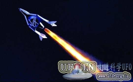 太空船二号完成首次动力飞行的图片