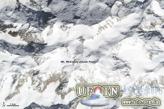 每日卫星照:北美最高峰德纳里峰的图片 第1张