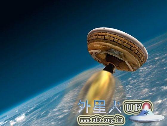 NASA飞碟状飞行器原型发射试验1周4度暂停的图片