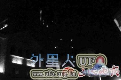 辽宁盘锦中心医院出现5个UFO,发白光离去时非常迅速的图片