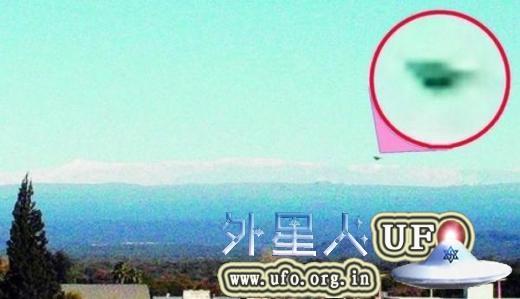阿根廷观光局局长拍到UFO,形状似倒扣锅盖的图片