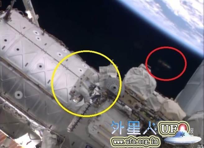 2014年10月7日雪茄型UFO监视国际空间站宇航员的图片 第1张