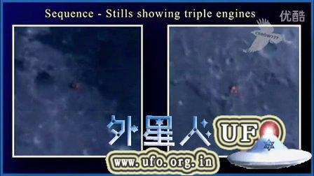 2014年11月2日拍摄到月球表面飞过的UFO的图片