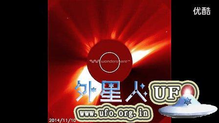 2014年11月11日太阳周围巨大的UFO的图片