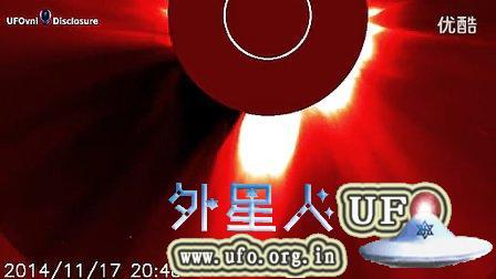 2014年11月23日巨大UFO再次光临太阳的图片