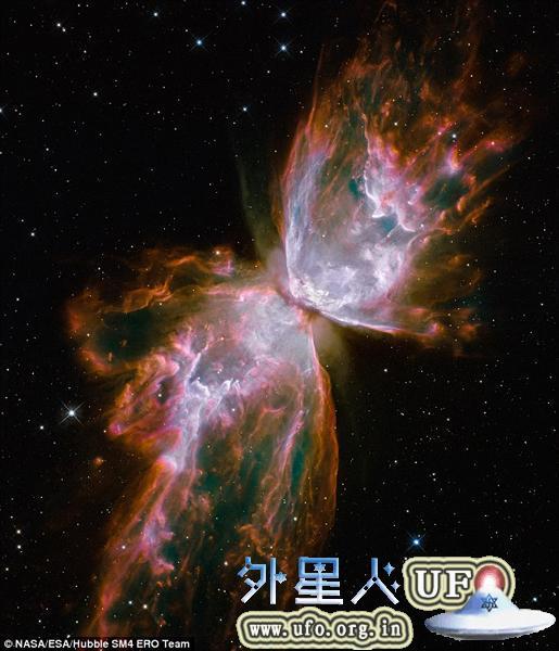 哈勃拍摄美丽的蝴蝶星云:距地3800光年