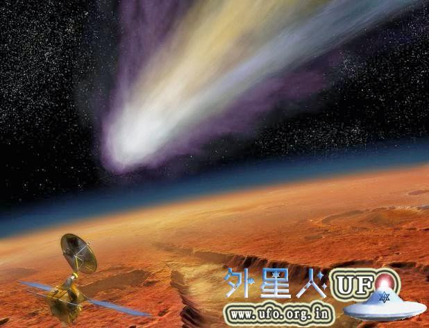 """百万年一遇的彗星与火星""""擦肩而过"""" 第1张"""