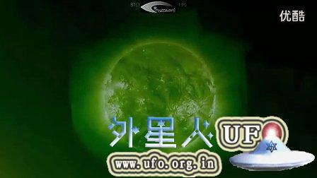2014年12月4日太阳表面巨大的三角形UFO的图片