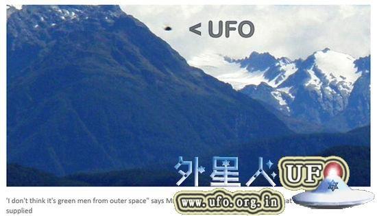 新西兰南岛男子 淘金时 拍下不明飞行物 是UFO?的图片