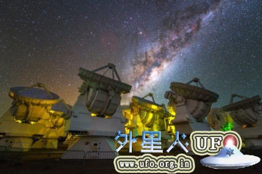 位于智利阿塔卡马沙漠的阿塔卡马大型毫米波/亚毫米波阵列,也称为ALMA天文台(ALMA Observatory)。