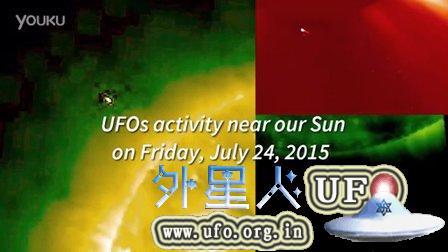 2015年7月24日太阳周围的飞船(NASA视频)