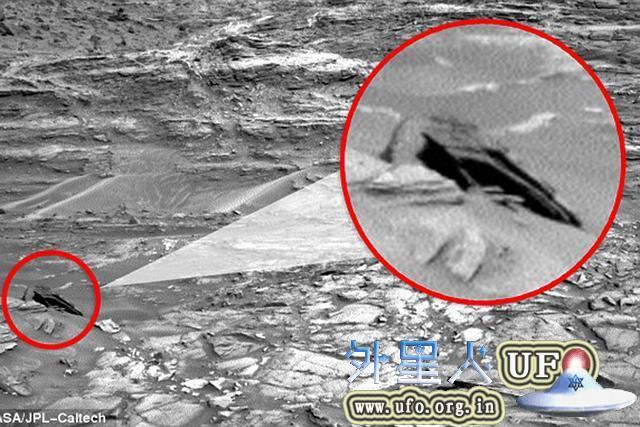 好奇号拍到火星表面似外星飞船的神秘物体