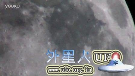 2015年8月24日快速穿过月面的UFO的图片