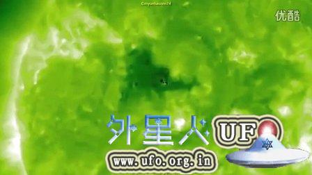 2015年8月25日太阳周围的巨大UFO的图片