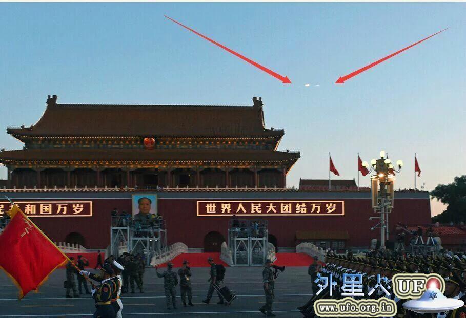 2015.9.3北京抗战阅兵仪式现场出现UFO直播完整版视频的图片 第3张