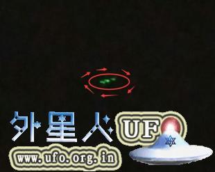 重庆多地目击旋转发光的UFO2015年9月8日晚的图片