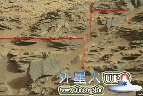 NASA火星照现蝎子图片UFO专家推测火星有生命的图片