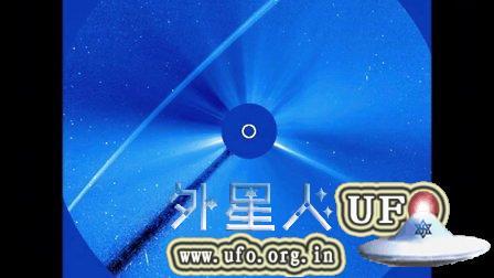 2015年9月8日太阳周围超长的光束UFO NASA视频的图片