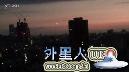 新宿形状的发光UFO 2015年9月12日的图片