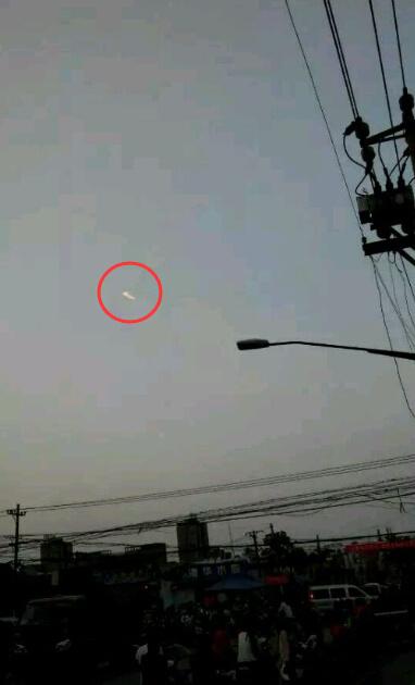 河南安阳多人目击UFO比一般飞机还快2015年9月26日 第2张