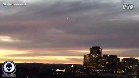 2015年9月26日渥太华乌云下的红色绿色光点UFO的图片