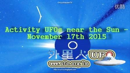 2015年11月17日太阳周围折弯的巨大UFO?光柱?的图片