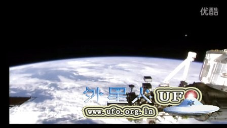 2015年11月25日国际空间站白色圆形UFO的图片