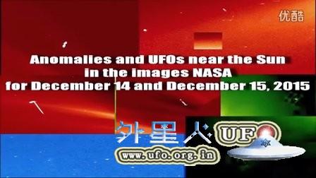 2015年12月15日太阳周围巨大UFO和补丁的图片