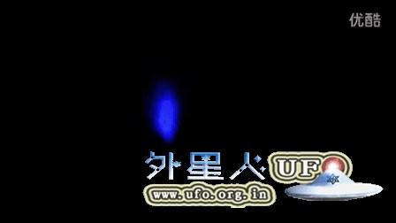 2015年12月19日半夜蓝色茧样发光UFO的图片
