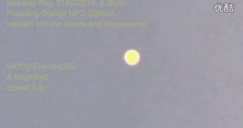2016年2月21日新西兰橙色光球UFO的图片