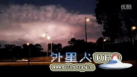 2016年2月1日澳大利亚雷暴云还是巨型UFO?的图片