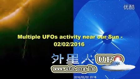 2016年2月2日长度超过太阳的发光UFO的图片