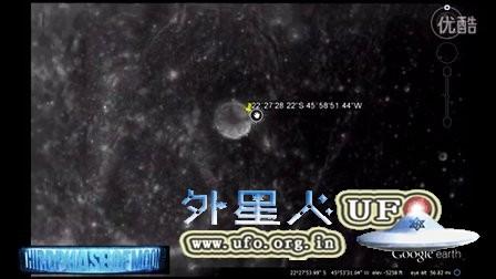 月球上的UFO圆形发光区的图片