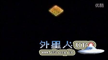 2016年2月8日日本丹波市钻石型金色发光UFO的图片