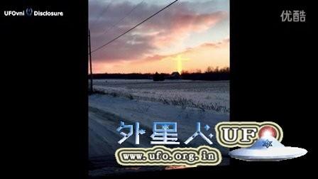 2016年1月13日十字形心形发光UFO的图片