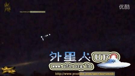 2016年多个光点组成的L形发光UFO的图片