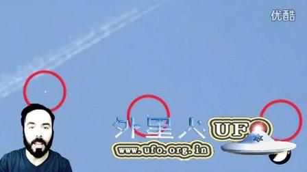 2016年2月28日飞机尾迹与UFO的图片