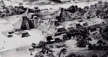 洪都拉斯科科潘玛雅金字塔古迹遗址的图片
